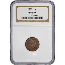 1896 Indian 1¢. Proof-64 BN NGC.