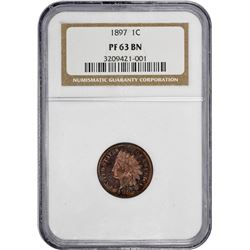 1897 Indian 1¢. Proof-63 BN NGC.