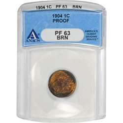 1904 Indian 1¢. Proof-63 BN ANACS.