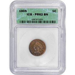 1905 Indian 1¢. Proof-62 BN ICG.
