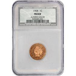 1908 Indian 1¢. Proof-Details NCS