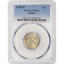 1938-D Buffalo 5¢. MS-64 PCGS.