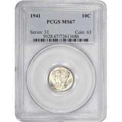 1941 Mercury 10¢. MS-67 PCGS.