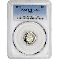 1967 Roosevelt 10¢. SMS. SP-67 CAM PCGS.