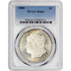 1880 Morgan 1$. MS-63 PCGS.