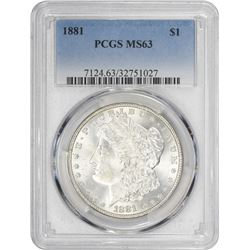 1881 Morgan 1$. MS-63 PCGS.