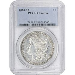 1884-O Morgan 1$. Genuine-Details PCGS.