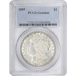 1885 Morgan 1$. Genuine-Details PCGS.