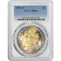1885-O Morgan 1$. MS-64 PCGS.