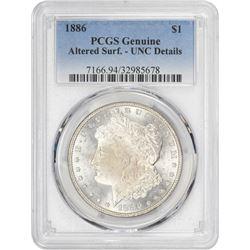 1886 Morgan 1$. Unc-Details PCGS.