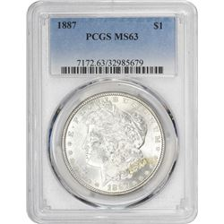 1887 Morgan 1$. MS-63 PCGS.