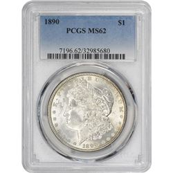 1890 Morgan 1$. MS-62 PCGS.