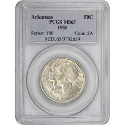 1935 Arkansas 50¢ Commemorative. MS-65 PCGS.