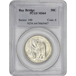1936 Bay Bridge 50¢ Commemorative. MS-64 PCGS.