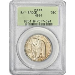 1936-S Bay Bridge 50¢ Commemorative.MS-64 PCGS. GH.