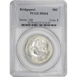 1936 Bridgeport 50¢ Commemorative. MS-64 PCGS.