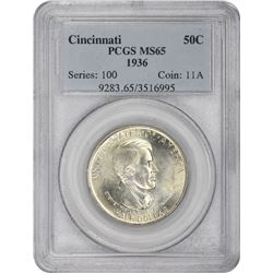 1936 Cincinnati 50¢ Commemorative. MS-65 PCGS.