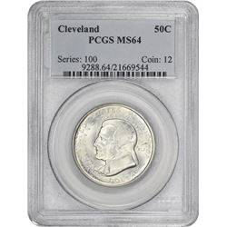 1936 Cleveland 50¢ Commemorative. MS-64 PCGS.