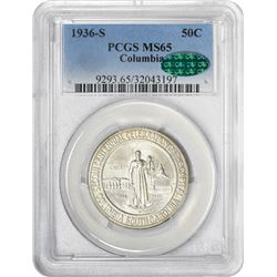 1936-S Columbia 50¢ Commem. MS-65 PCGS. CAC.