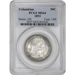 1893 Columbian 50¢ Commemorative. MS-64 PCGS.