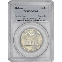 1936 Delaware 50¢ Commemorative. MS-64 PCGS.