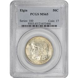 1936 Elgin 50¢ Commemorative. MS-65 PCGS.