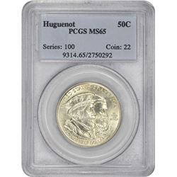 1924 Huguenot 50¢ Commemorative. MS-65 PCGS.