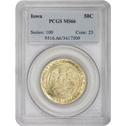 1946 Iowa 50¢ Commemorative. MS-66 PCGS.