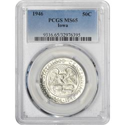 1946 Iowa 50¢ Commemorative. MS-65 PCGS.