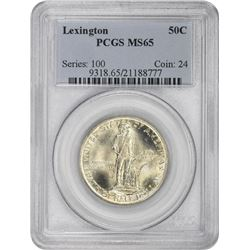 1925 Lexington 50¢ Commemorative. MS-65 PCGS.