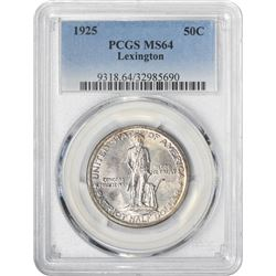 1925 Lexington 50¢ Commemorative. MS-64 PCGS.