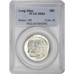1936 Long Island 50¢ Commemorative. MS-64 PCGS.