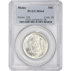 1920 Maine 50¢ Commemorative. MS-64 PCGS.