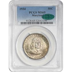 1934 Maryland 50¢ Commemorative. MS-65 PCGS. CAC.