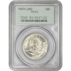 1934 Maryland 50¢ Commemorative. MS-63 PCGS. GH.