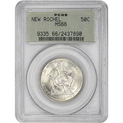 1938 New Rochelle 50¢ Commemorative. MS-66 PCGS.