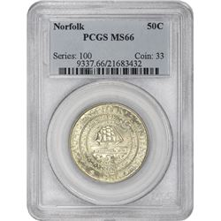 1936 Norfolk 50¢ Commemorative. MS-66 PCGS.