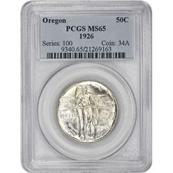 1926 Oregon 50¢ Commemorative. MS-65 PCGS.