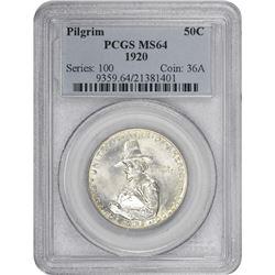 1920 Pilgrim 50¢ Commemorative. MS-64 PCGS.