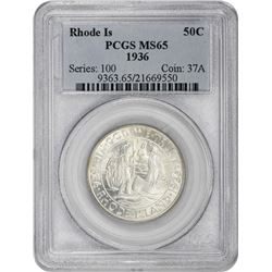 1936 Rhode Island 50¢ Commemorative. MS-65 PCGS.
