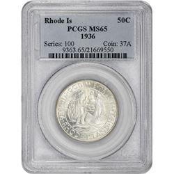 1936 Rhode Island 50¢ Commemorative. MS-65 PCGS.