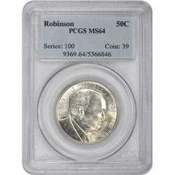 1936 Robinson 50¢ Commemorative. MS-64 PCGS.