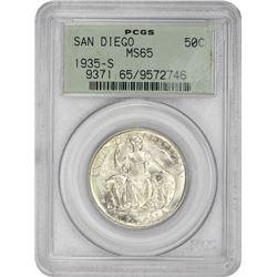 1935-S San Diego 50¢ Commemorative. MS-65 PCGS. GH.