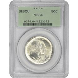 1926 Sesqui 50¢ Commemorative. MS-64 PCGS. GH.