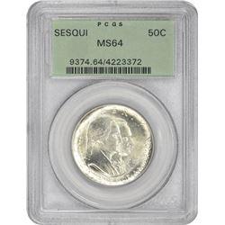 1926 Sesqui 50¢ Commemorative. MS-64 PCGS. GH.