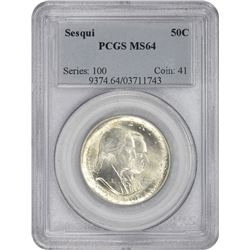 1926 Sesqui 50¢ Commemorative. MS-64 PCGS.