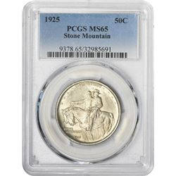 1925 Stone Mountain 50¢ Commemorative. MS-65 PCGS.