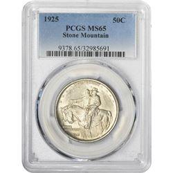 1925 Stone Mountain 50¢ Commemorative. MS-65 PCGS.