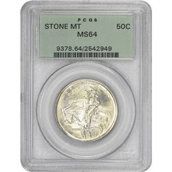 1925 Stone MT 50¢ Commemorative. MS-64 PCGS. GH.