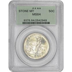 1925 Stone MT 50¢ Commemorative. MS-64 PCGS. GH.